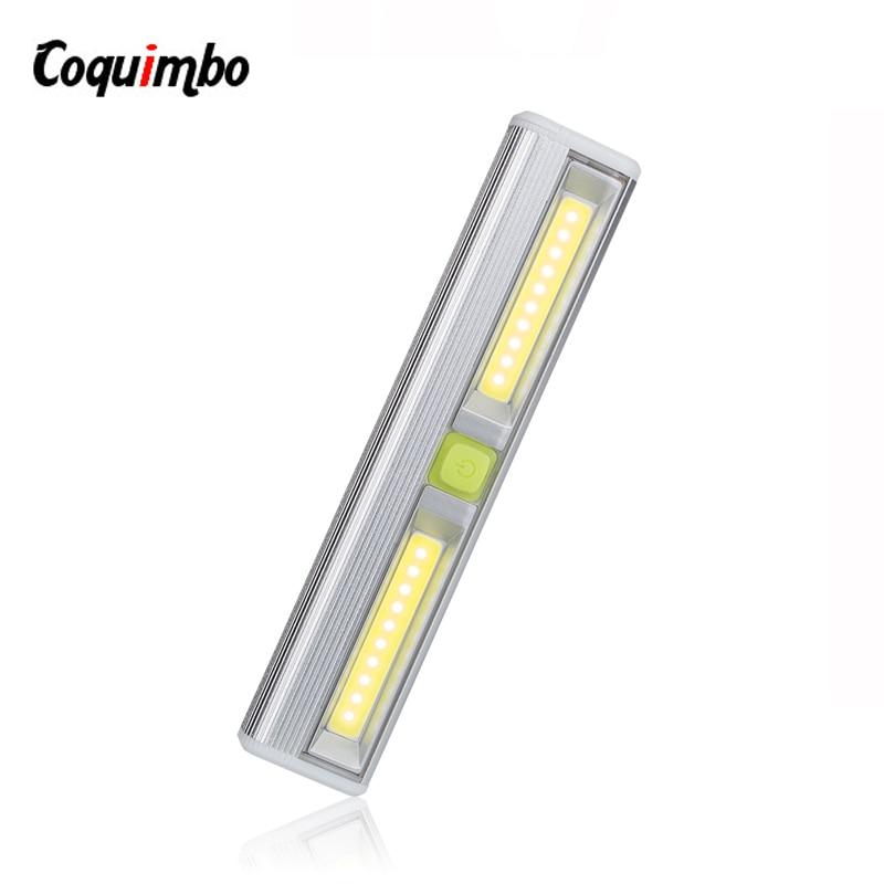 Led Garage Lights Battery: Magnetic Ultra Bright Mini COB LED Wall Light Switch LED