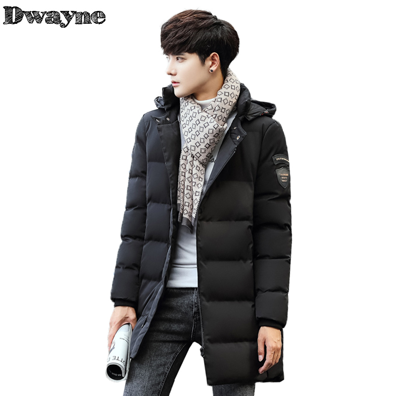 Winter Men's Long Cotton Padded Jackets Mens Fur Hooded Warm Wadded Coats Fashion Male Long Thickening Parkas Outerwear 1069 women long plus size jackets padded cotton coats winter hooded warm wadded female parkas fur collar outerwear