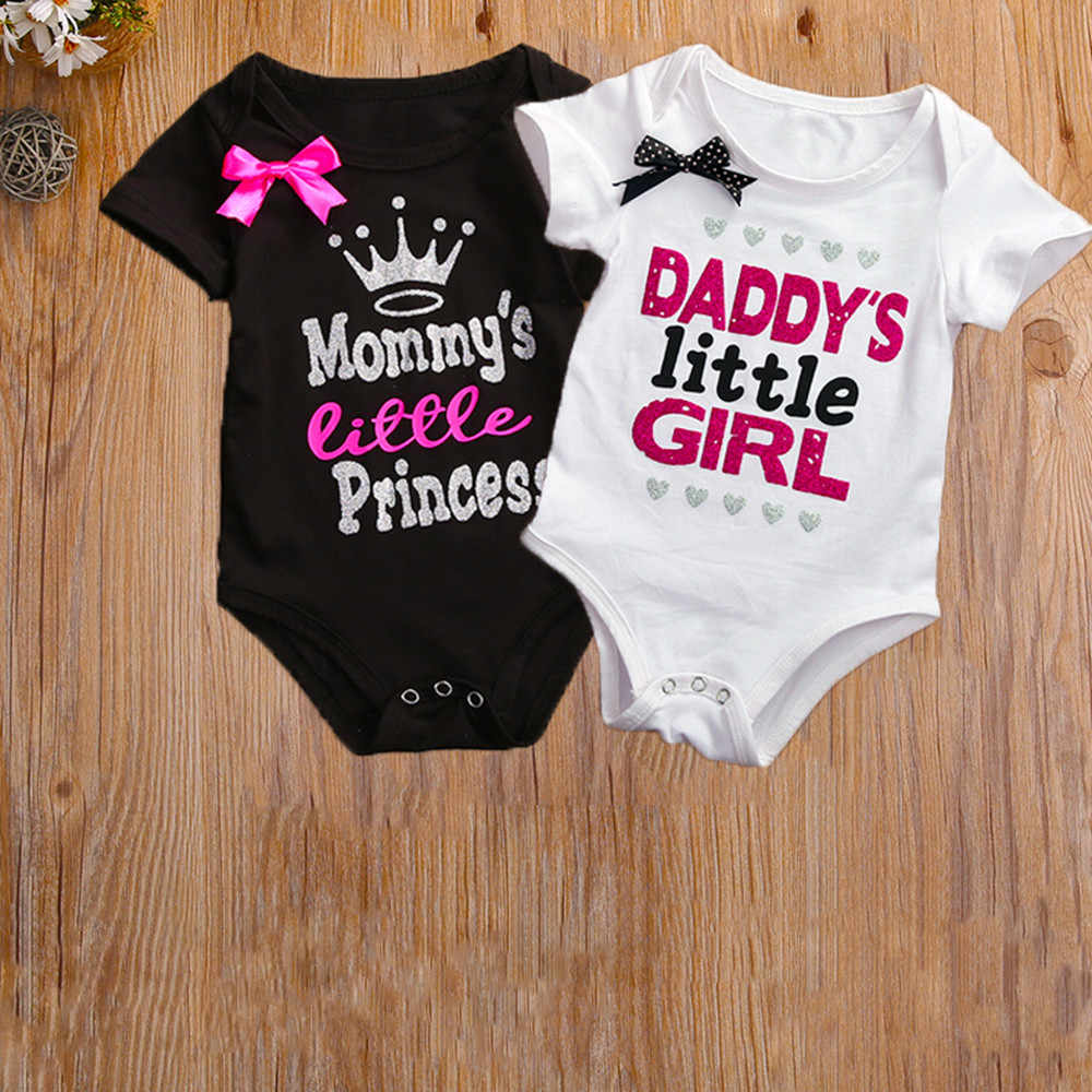 6bbdbaf78e079 Newborn Baby Romper Summer Short Sleeve Infant Bebes Boys Girls Letter Print  RompersToddler Kids Jumpsuit Outfit