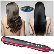 Professional Hair Iron Straightening Escova Alisadora electric hair straightener brush 1PCS ionic heat