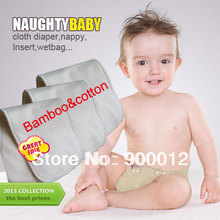 Nappy-Insert Baby-Pads Organic Bamboo Naughtybaby Cotton High-Quality 4-Layers 50pcs