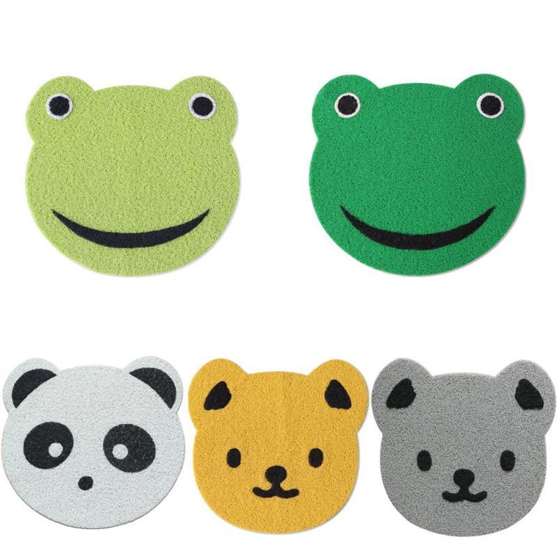 Quality PVC Cartoon Irregular Animal Shapes Carpet Panda Bear Frog Hallway  Rug Crawling Game Mat Skid Bedroom Kid Room Rug L35