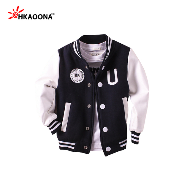 Children Baseball Clothes Jacket For Baby Boys Girls Sports Sweatshirt Coat PU Sleeve Kids Clothes England Style