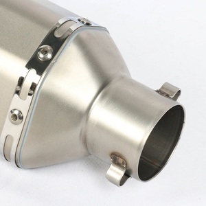 Image 4 - 4 Color 38~51MM Universal Motorcycle Exhaust Muffler With AK Sticker Stainless Steel For Dirt Bike Street Bike Scooter
