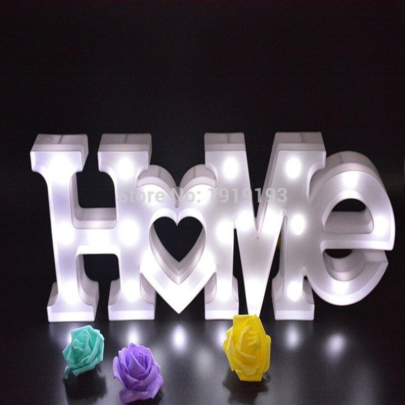 Fun белый Пластик письмо светодиодный ночник знаковое событие Алфавит светильники лампы для домашнего Клуб Открытый Крытый украшения стены