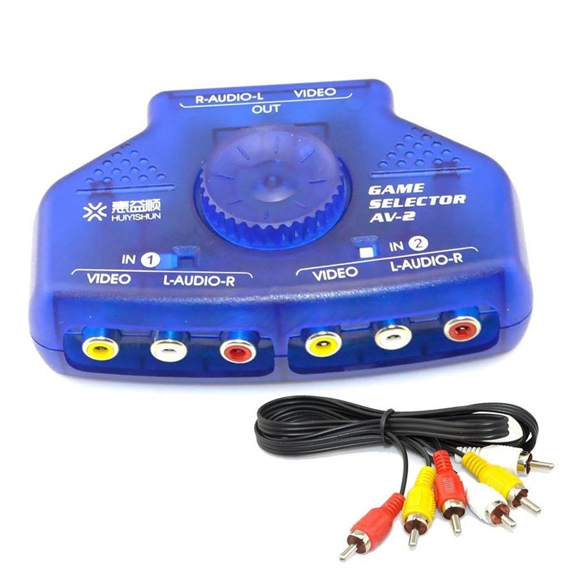 JINSHENGDA 2-Way 2 Input 1 Output Audio Video AV RCA Switcher Switch Selector Splitter Box