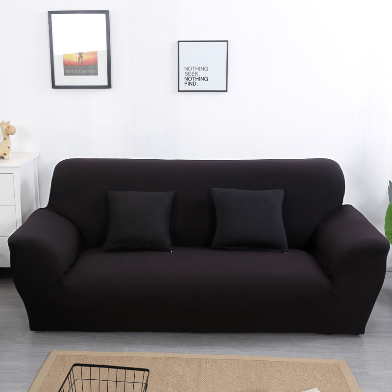 solid color sofa covers for living room stretch slipcovers elastic material couch cover corner sofa cover double seat three seat-in Sofa Cover from Home & Garden