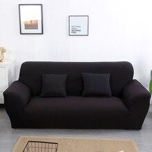 Fundas de color sólido para sofá para sala de estar fundas elásticas fundas de sofá de material elástico fundas de sofá de esquina de doble asiento de tres asientos