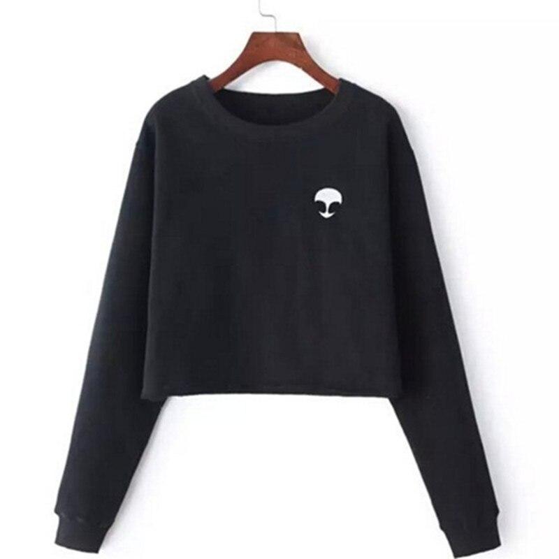 Harajuku Real Fashion O-neck Free Shipping 2017 Hot Printing Sleeve Shorts That Show Hilum And Wool Wholesale Polerones Kawaii