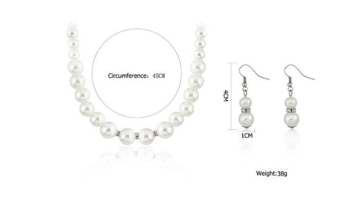 Pearl Silver Plated Jewelry Set 4