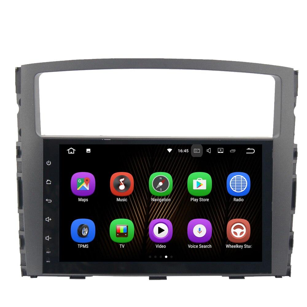 9&#8243; Android 7.1 <font><b>Car</b></font> Media Radio Player For Mitsubishi Mitsubishi Pajero V97 V93 Wifi 2G+16G Support DAB GPS BT FM HDMI NO DVD