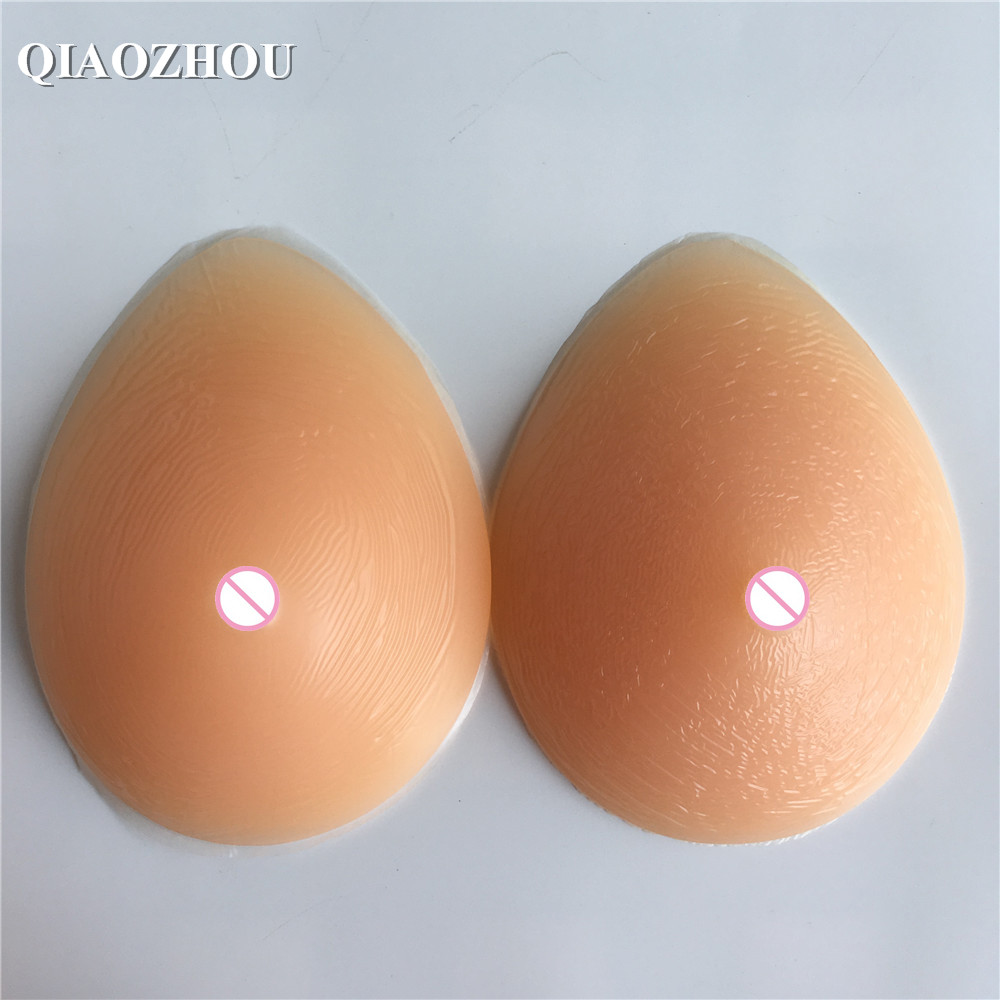 big size 900 g C cup silicone prosthesis artificial breast forms for woman mastectomy use 40C 42C realistic silicone breast forms cd c cup breast form prosthesis 800g breast forms for cross dressers