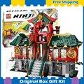 1223 шт. Бела 9797 Оригинальной Коробке Подарки Набор Битва за Ниндзя Город Устанавливает Строительного Кирпича Игрушки Подарки, Совместимые С Lego