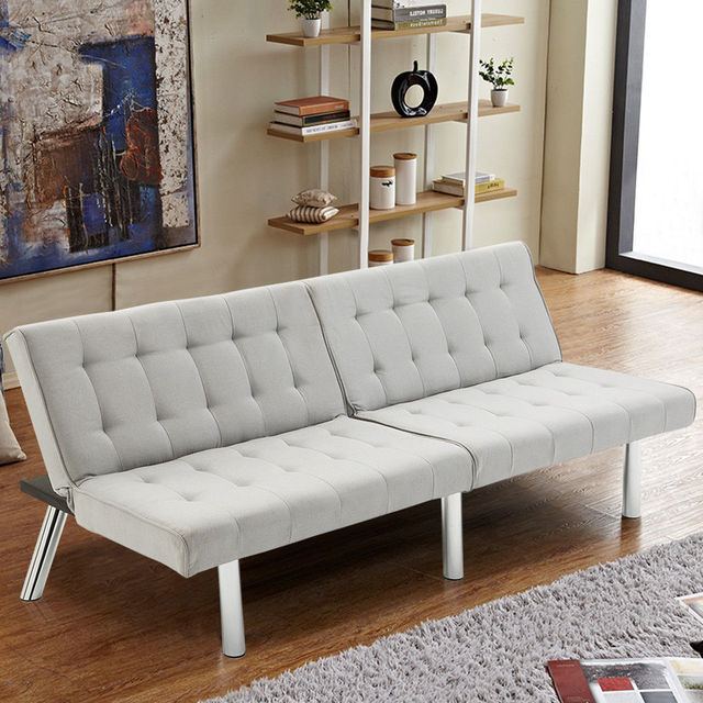 Giantex Modern Living Room Furniture Split Back Futon Sofa Bed ...