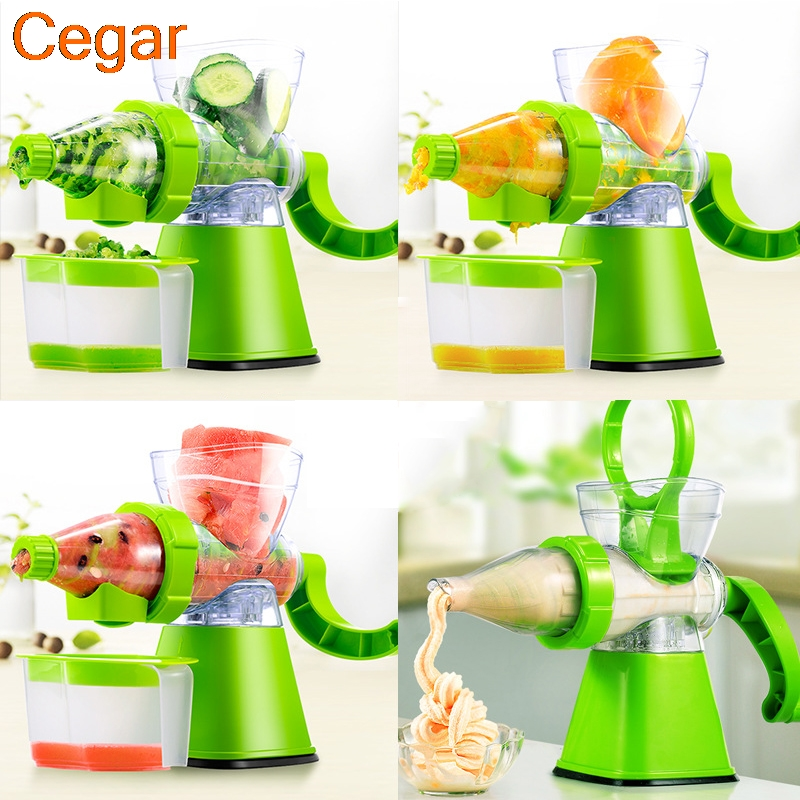 Fruit Vegetable Tools Ice Cream machine slow juicer Plastic Multifuctional Fruit Squeezer hand juicer machine Tool