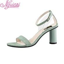2019 Fashion Buckle Strap Sexy High Heels Open Toe Sandals Women Casual Round Heels Ladies Summer Women Sandals Shoes Nysiani цена в Москве и Питере