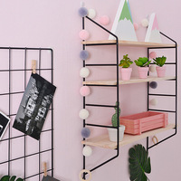 Wooden Hanging Shelf 3 Tier Wall Display Rack Home Decor DIY Wall Decoration Holder