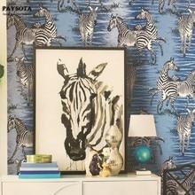 PAYSOTA Classic Zebra Striped Wallpaper Bedroom Living Room Sofa TV Decoration Wall Paper Roll