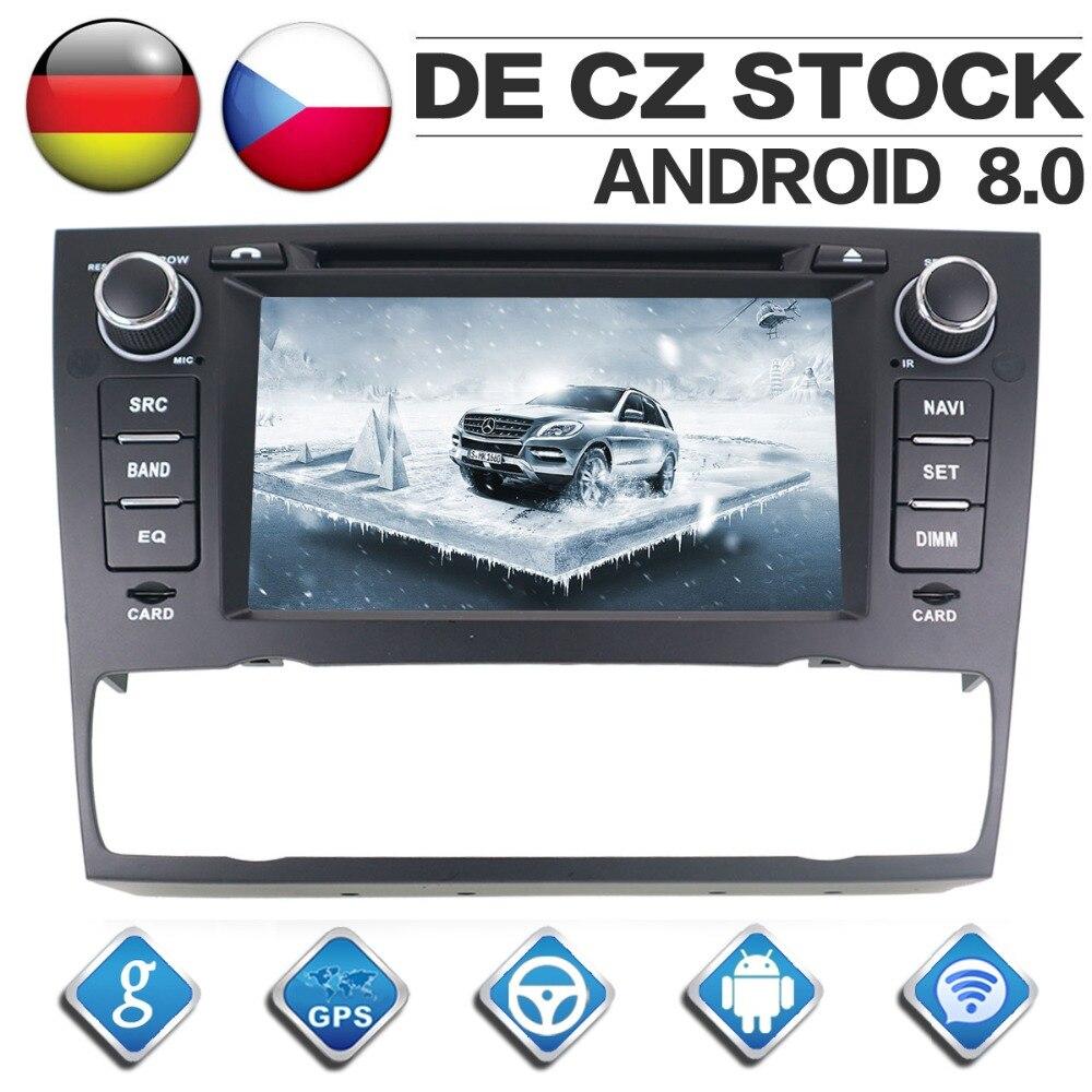 8 Core CD DVD gps навигации игрока 2 Din Android 8,0 радио автомобиль BMW E90 E91 E92 E93 с ручной/Авто AC Autostereo головного устройства