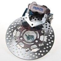 CNC Motorcycle Brake Calipers+Adapter Bracket+200mm/220mm Brake Disc Brake Rotor Sets For Yamaha Aerox Nitro BWS 100 JOG 50 rr