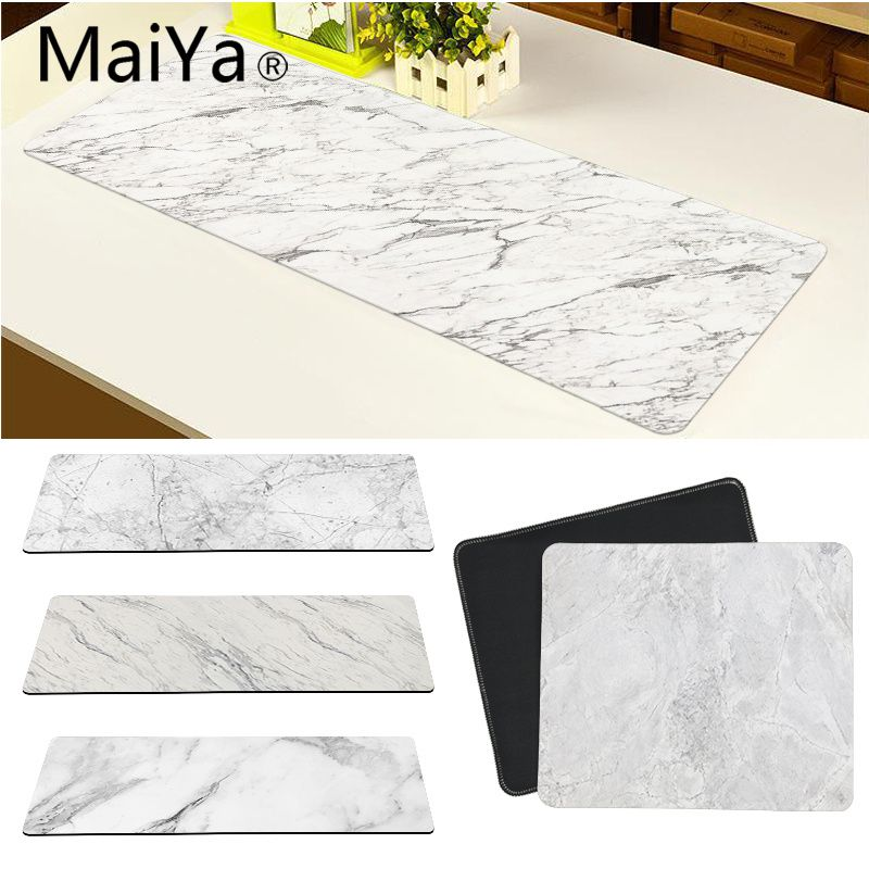 Maiya Top Quality Golden White Marble Keyboards Mat Rubber Gaming Mousepad Desk Mat Free Shipping Large Mouse Pad Keyboards Mat