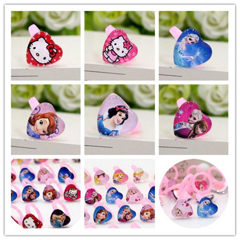 Accessoires enfant Disney fête des enfants anniversaire reine des neiges princesse Mickey dessin animé enfant anneau accessoires