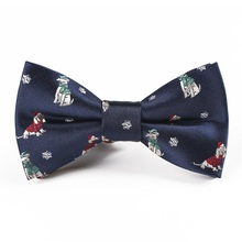 Fashion Bowtie Children Christmas Bow Ties for Baby Boys Shirt Snowflake Pattern Polyester Bowties Child Gift
