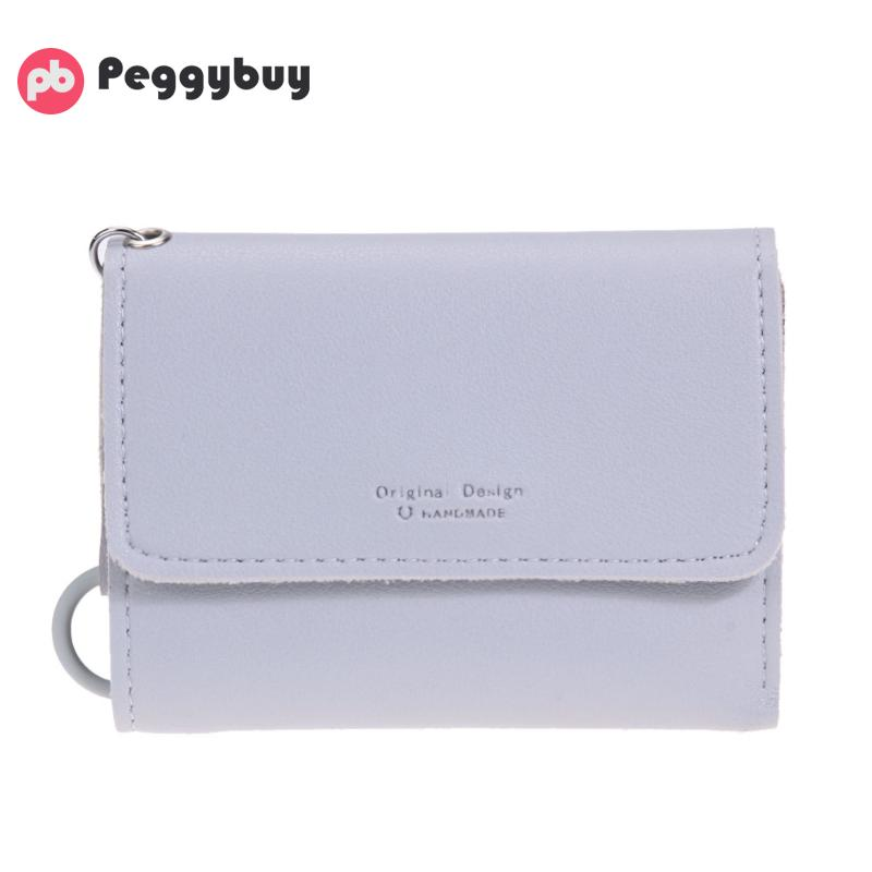 Women Multi-card Bit Short Wallet New Coin Key Holder Case Solid Female Money Credit Card Coin Pocket Purse Mini Bags for Girls