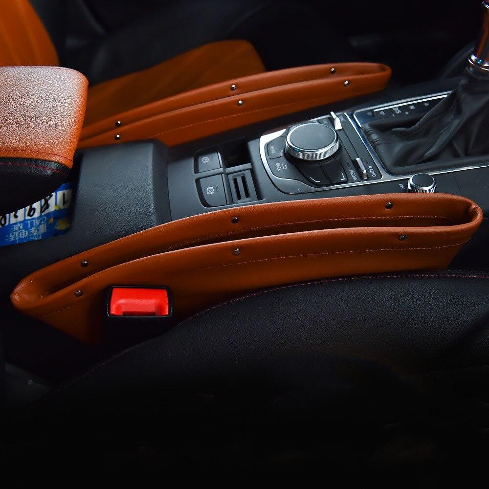 1 pc Central Contenant Boîte Sac De Rangement Organisateur De Siège De Voiture Auto Seat Gap Filtre Poche Accessoires pour bmw e46 e39 peugeot 3008 vw
