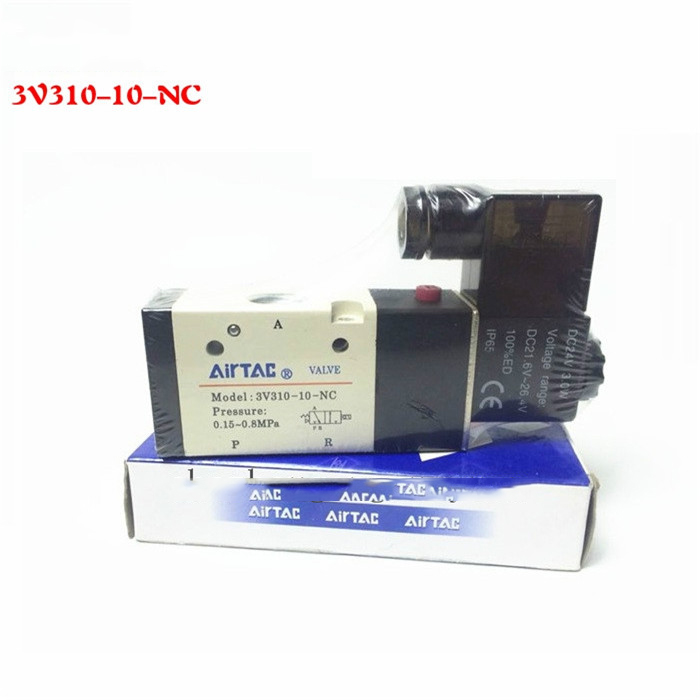 1PCS Free shipping Pneumatic valve solenoid valve 3V310-10-NC Normally closed DC12V 24V AC220V,3/8 , 3 port 2 position 3/2 way биокамин настольный silver smith 34х26 см simple black 06004bk0