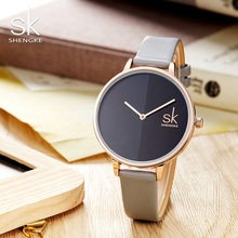 SK Watch Women Top Luxury Brand Fashion Ladies Wrist Watches Thin Strap Watch Reloj Mujer Marble Dial Clock Relogio Feminino New sinobi women s watches bracelet wrist watch women watches top brand luxury ladies watch clock reloj mujer relogio feminino saat