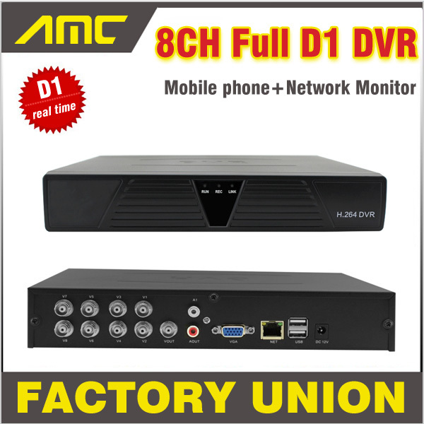 New CCTV DVR 8 Channel Full D1 Real Time Recording Support Network Mobile Phone CCTV Dvr