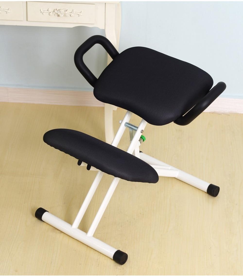 posture study chair salon dryer ergonomically designed kneeling with handle height adjust office knee ergonomic correct white