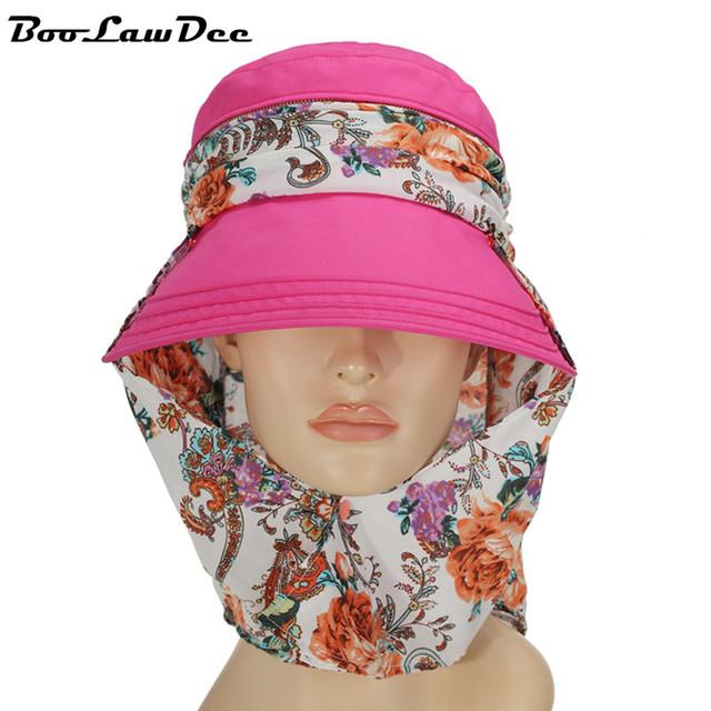 BooLawDee Grande algodón de las mujeres de ala ancha sombrero para el sol ocio multifunción tapa protectora personalizada al por mayor de tamaño libre 60 cm 4F010