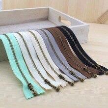 Металлическая бронзовая сотая водная капля слайдер нейлоновая ткань молнии 20 см с 6 опциональными цветами для шитья сумок