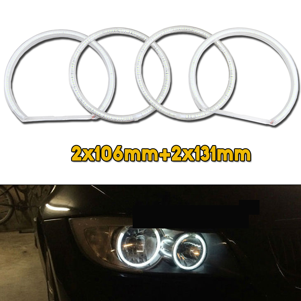 Ultra bright 3014SMD 12V E90 Led Angel Eyes kit For BMW 3 Series E90 2005-2008 Halogen headlight Excellent Halo ring kit led rings white 3014 smd led angel eyes headlight halo ring marker 131mm 145mm for bmw e46 non projector