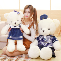 Candice guo plush toy nhồi búp bê động vật phim hoạt hình hải quân thủy quân lục chiến biển quân đội ted người yêu gấu teddy bé sinh nhật món quà Giáng Sinh 70 cm