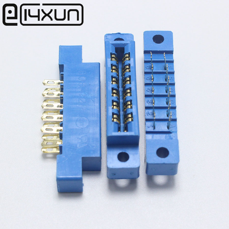 Connectors Lights & Lighting Purposeful Sample,2pcs/lot 805 Card Edge Connector 3.96mm Pitch 2x6 Row 12 Pin Pcb Slot Solder Socket Sp12 Dip Wire Solder Type Always Buy Good