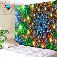 Boho Tapestry Wall Hanging Kaleidoscope Decoration Hippie Wandkleed Mandala Psychedelic Fabric Cloth Rug