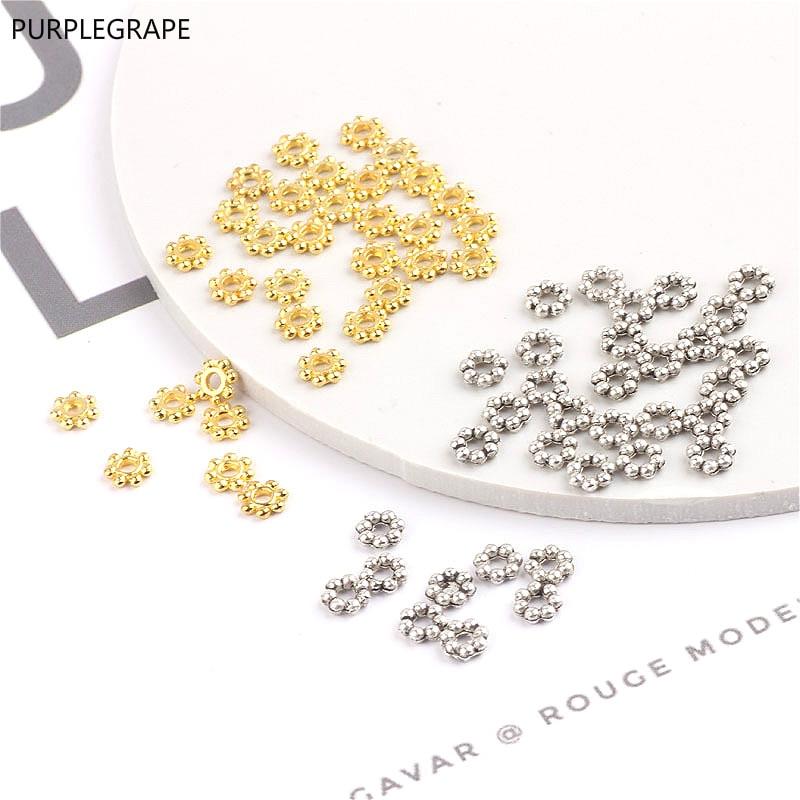 DIY Handmade Accessories Jewelry Accessories Material Beaded Bracelet 4mm Small Separator Loose Beads Separator 300pcs