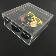 Inner7x8x3inch Acrylic Glasses Storage Sunglasses Display Organizer Eyewear Jewelry Display Box Gift Rack Shelf