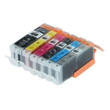 Genie Full ink 6PCS PGI-450 CLI-451 ink Cartridge For Canon PIXMA IP7240 MG5440 MG5540 MG6440 MG6640 MG5640 MX924 with Chip
