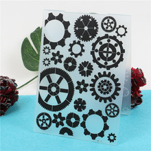 Retro Gear Plastic Embossing Folder StampsTemplate For Scrapbooking Photo Album Paper Card Background Decoration