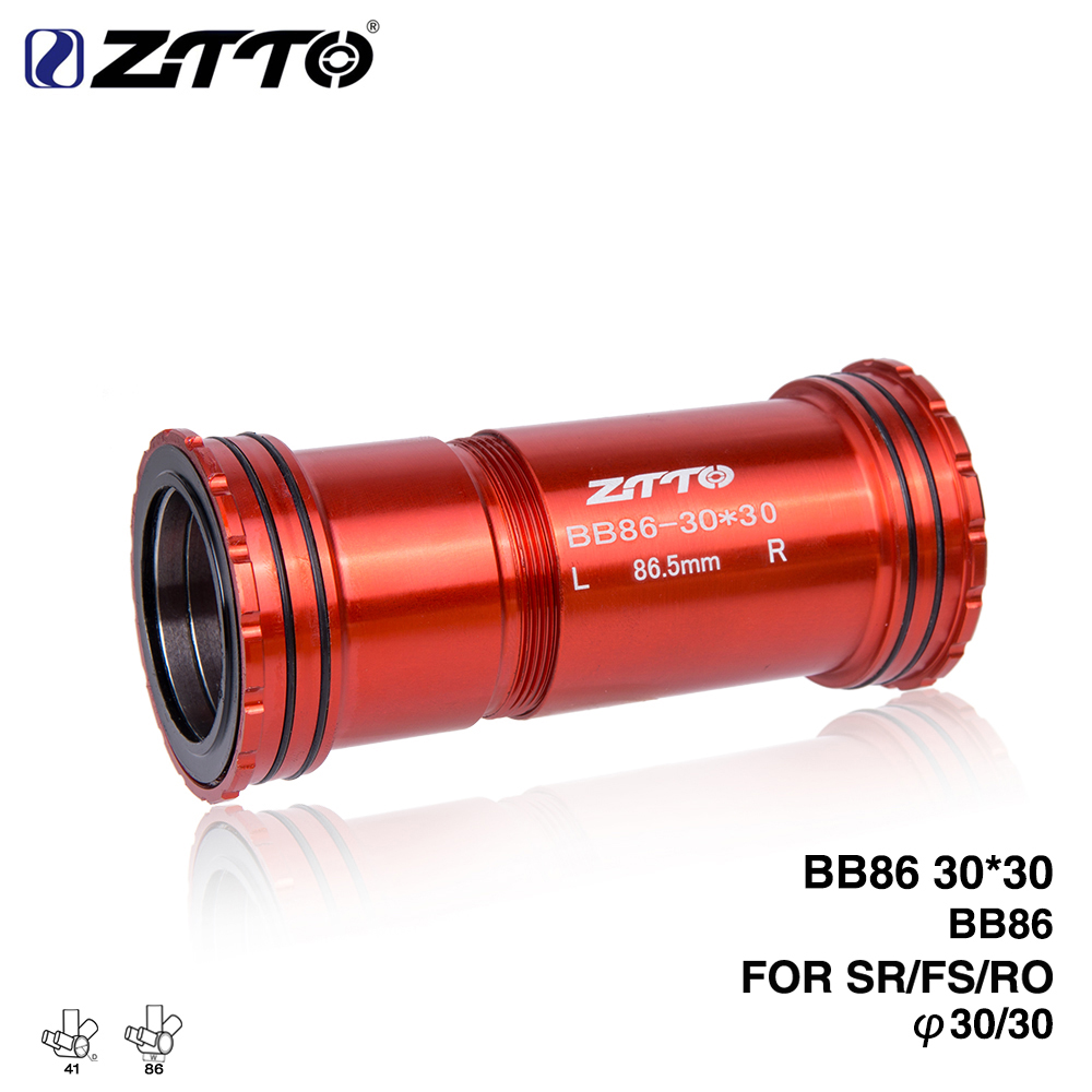 ZTTO BB86 30 Press Fit Bottom Brackets 4 Bearings for Road bike Mountain 86mm frame BB shell use 30mm BB386 Crankset Chainset