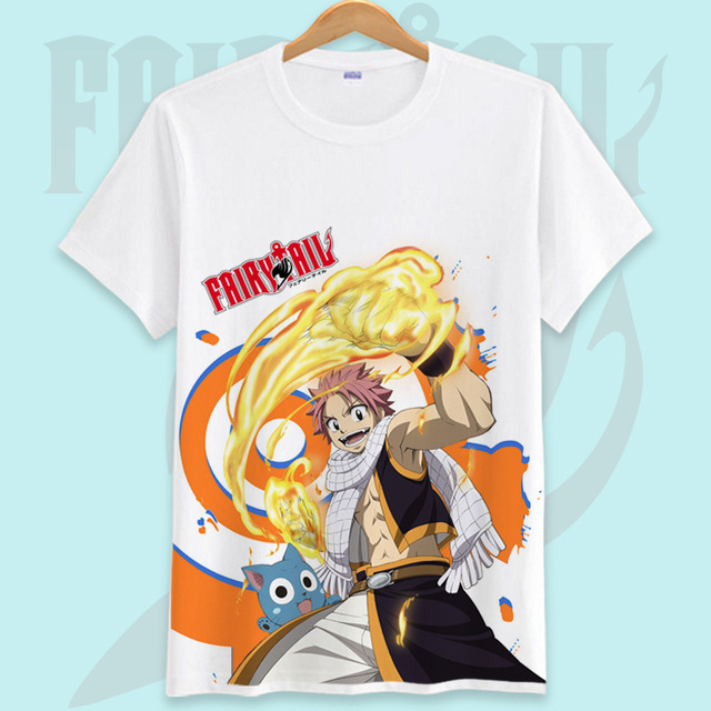 Fairy Tail Printed Men T Shirt Cotton O-Neck tshirts Cartoon Shirt Short-Sleeve Women T-Shirt