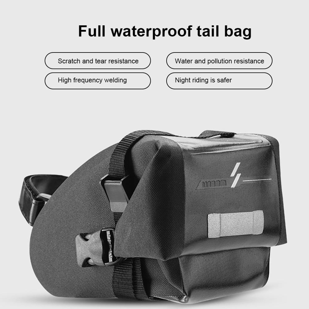 TORE Outdoor Bike Bicycle Cycling Saddle Bag Pouch Seat Reflective Storage NEW