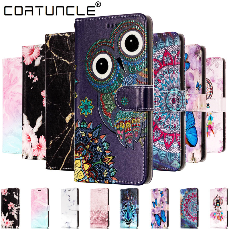 Flip Leather <font><b>Case</b></font> For <font><b>Samsung</b></font> <font><b>Galaxy</b></font> A20 <font><b>case</b></font> For coque <font><b>Samsung</b></font> A10 A30 A40 <font><b>A50</b></font> A60 A70 3D Relief Wallet Cover Stand Phone <font><b>Case</b></font> image