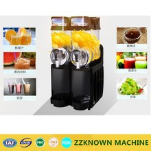 Commerical Ice Cream Maker with Double Tank Slush Machine Cold Drink Dispenser Smoothies Machine with Ice Cream Machine