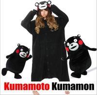 Super Natürliche Heißer Verkauf Jungen Mädchen Erwachsene Winter/herbst Schwarz Kumamon Bär Pyjamas Onesie Tier Partei Cosplay Kostüm Pyjamas