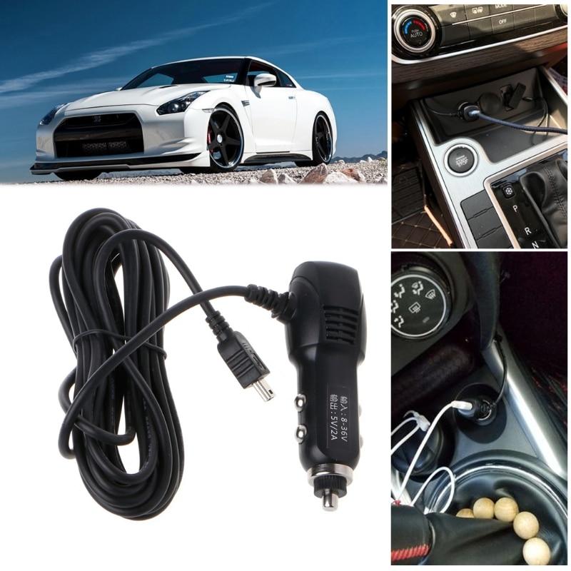 Мини USB порт 5 в 2A автомобильное зарядное устройство адаптер для автомобиль dvr зарядка с кабелем 3,5 м-in Кабели, адаптеры и разъемы from Автомобили и мотоциклы